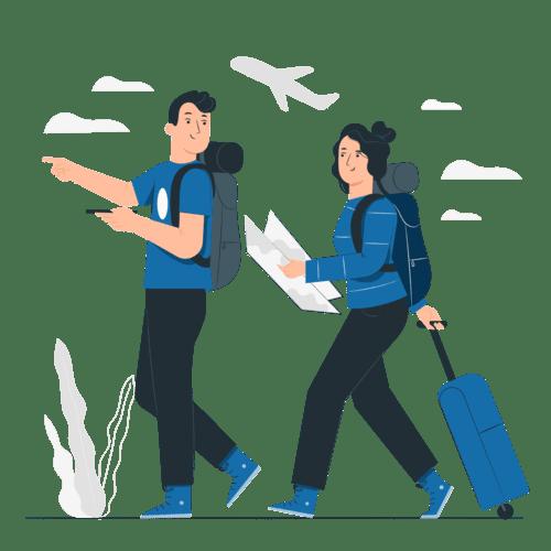 Couple on Trip